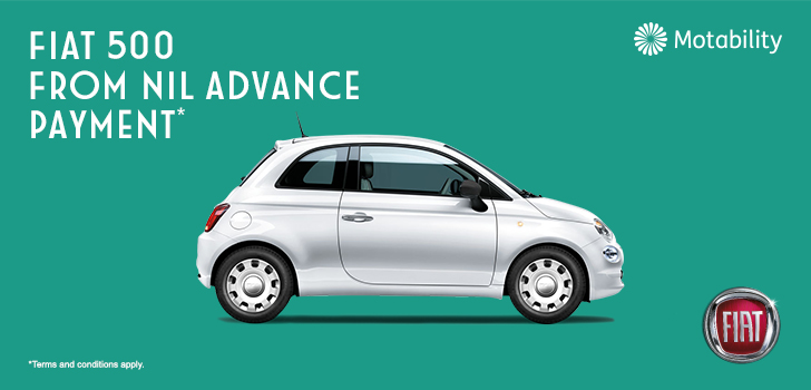 Q2 2018 - Fiat 500 - Motability - Static Website Banner